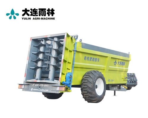 拖拉机牵引式12吨农家肥抛肥机